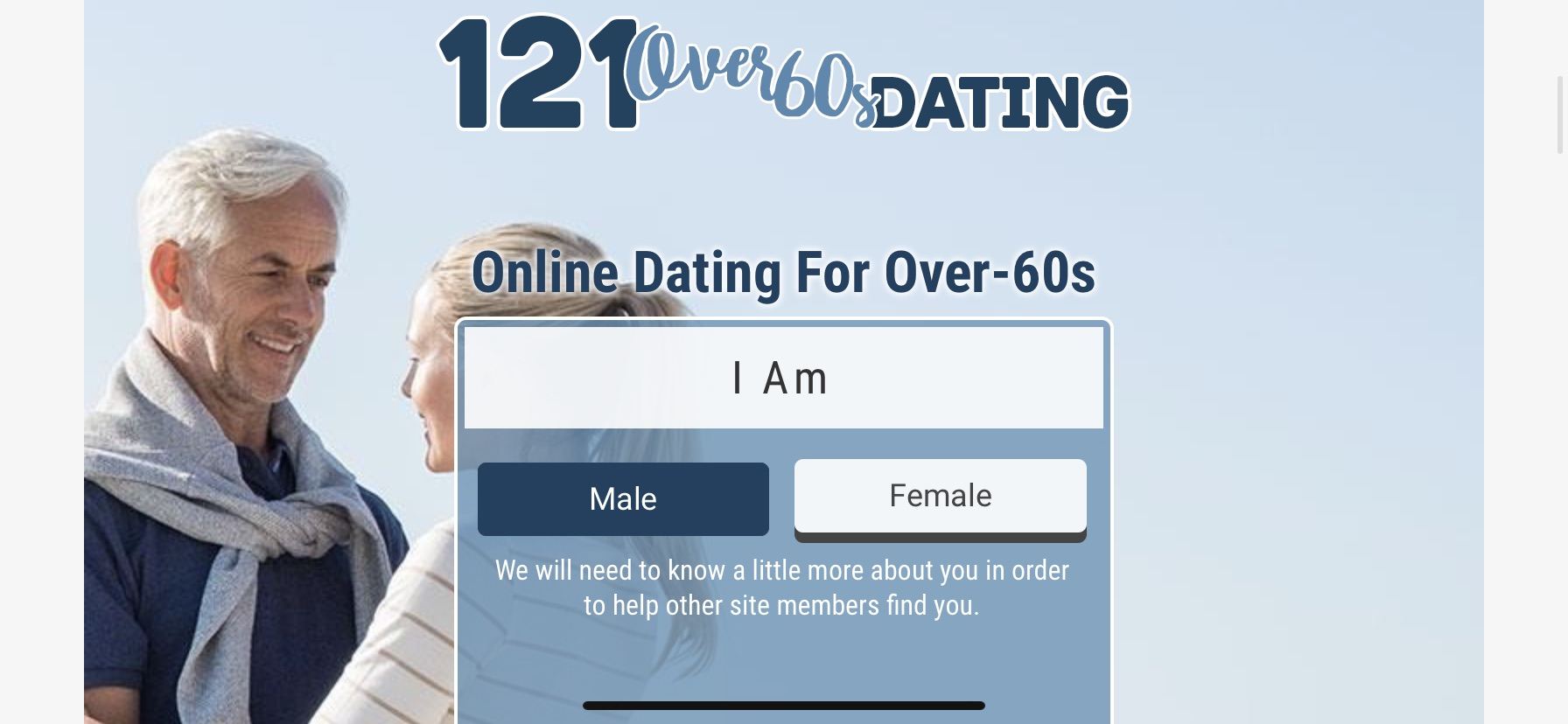 121 Over 60s Dating Logo